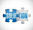 solution puzzle illustration design