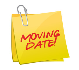 moving date post illustration design