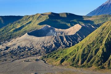 Bromo Volcano Mountain in Tengger Semeru National Park, East Jav