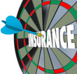 Insurance Dart Board Word Choosing Best Policy Plan Coverage