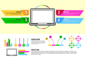 computer infographic design chart