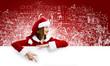 Santa girl with banner