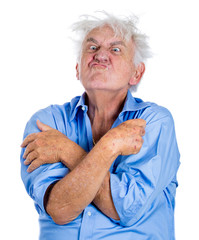 Elderly insane man