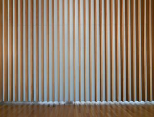 wooden fin facade interior