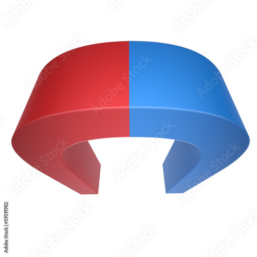 Blue and red magnet