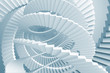 Abstract background with light blue spiral stairs maze