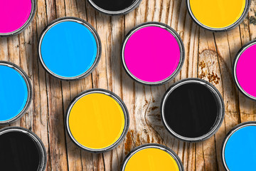 CMYK colors in tin cans
