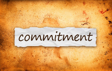 Commitment title on piece of paper