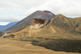 Red crater in front of Mt Ngauruhoe, Tongariro NP (NZ)