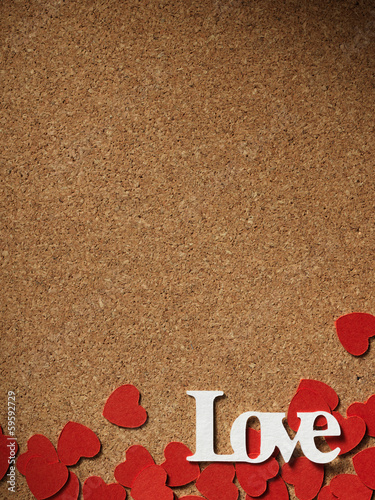 "Holidays card with word ""love"" and heart"