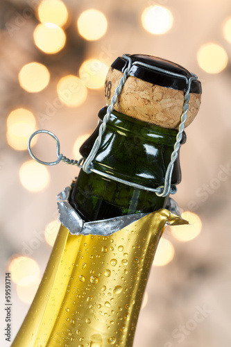 Champagne bottle with cork