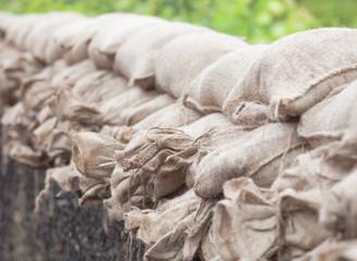 Floodwater sandbags
