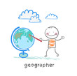 geographer shows on the globe
