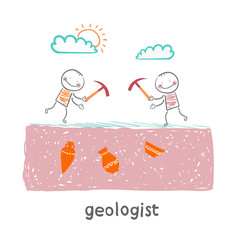 geologists are digging