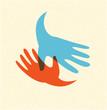 handshake and friendship icon