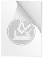 Zunftzeichen Tischler  auf Din A 4 Blatt