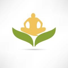 lotus posture icon