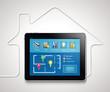 Leinwanddruck Bild - Home automation