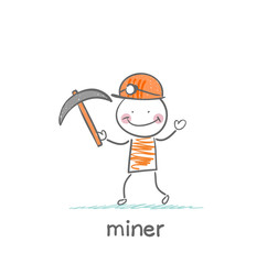 miner holding a pickaxe