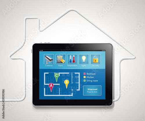 Leinwanddruck Bild Home automation