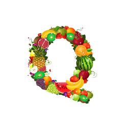 Letter of juicy fruit Q
