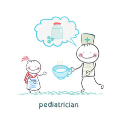 pediatrician says about the pills and give medicine to a child