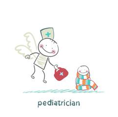 pediatrician flies to a sick child