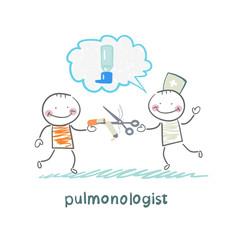 pulmonologist scissor cigarette patient