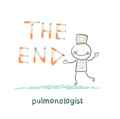 "pulmonologist from cigarettes to put the words "" the end"""