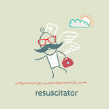 resuscitator flies to the patient poster
