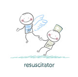 resuscitator keeps flying away into the sky patient poster