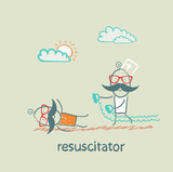 resuscitation in a hurry to sick patient poster