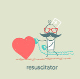 resuscitator hurry to the heart is sick poster