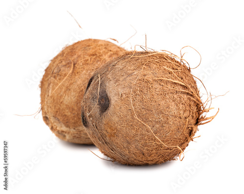 Two ripe coconut