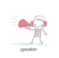 speaker of the headphones into the speaker says