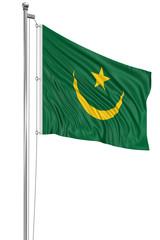 3D flag of Mauritania