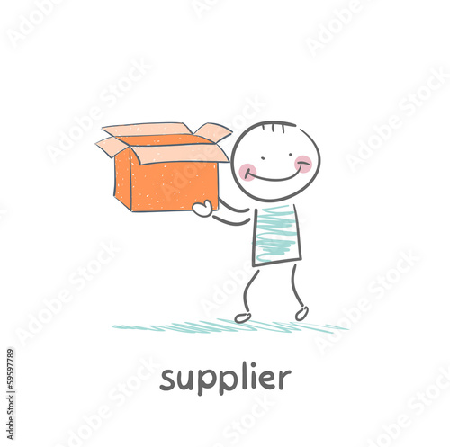 supplier is an empty box