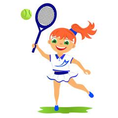 Girl tennis player