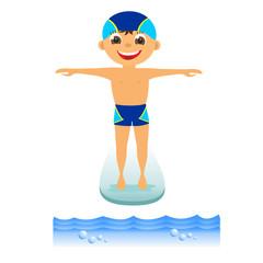 Boy on springboard