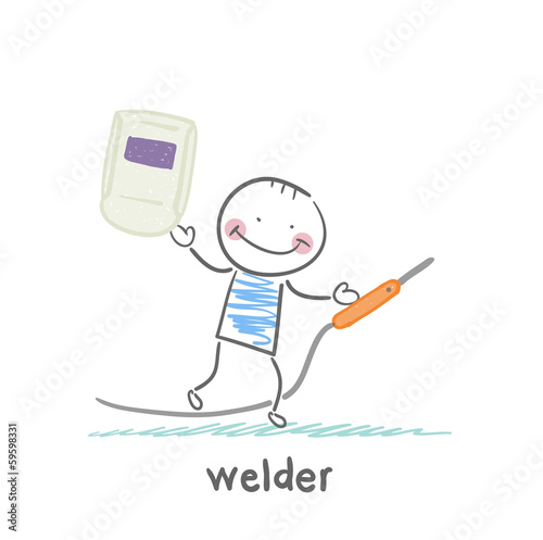 welder holds welder