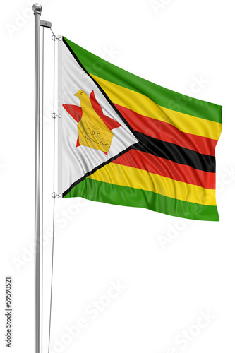 3D Flag of Zimbabwe