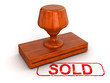 Rubber Stamp sold (clipping path included)