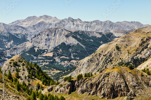 canvas print picture Landscape in Alps