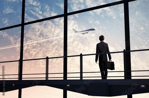 Aluminium Luchthaven Businessman at airport