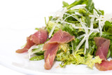 salad of arugula and tuna vegetables