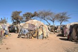 Camp for African refugees of Hargeisa in Somalia