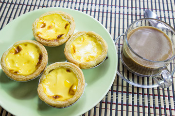 Egg Tart  and cooffee