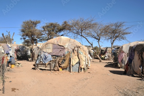 Keuken foto achterwand Overige Camp for African refugees of Hargeisa in Somalia