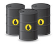 black barrels for oil vector illustration