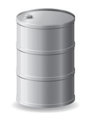 metallic barrel vector illustration